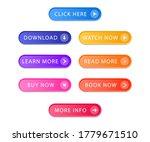 set of modern buttons for web... | Shutterstock .eps vector #1779671510