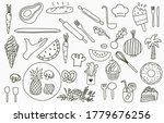 black line collection with... | Shutterstock .eps vector #1779676256