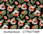 art floral vector seamless...   Shutterstock .eps vector #1779677489