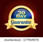 golden 30 day quality badge | Shutterstock .eps vector #177969074