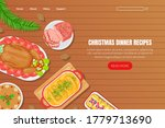 christmas dinner recipes... | Shutterstock .eps vector #1779713690