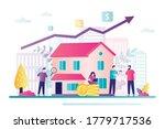 saving money concept. company... | Shutterstock .eps vector #1779717536