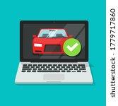 vehicle car inspection online... | Shutterstock .eps vector #1779717860