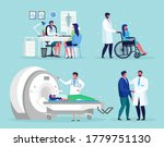 doctor talks with man. magnetic ... | Shutterstock .eps vector #1779751130