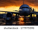 Airplane Silhouette  Storm...