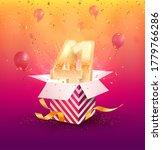 41 th years anniversary vector... | Shutterstock .eps vector #1779766286