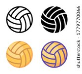 simple volleyball icon design...