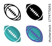 simple american football icon...