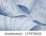paper cash register receipts in ... | Shutterstock . vector #177978320