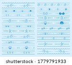 seamless borders with sea... | Shutterstock .eps vector #1779791933