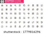 shopping thin line icon set....
