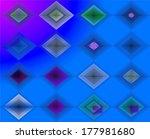 Lozenges Blue Pattern