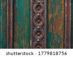 Old Patterns On A Wooden Door....