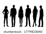 set of vector silhouettes of ... | Shutterstock .eps vector #1779823040