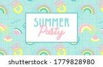 summer party banner. summer... | Shutterstock .eps vector #1779828980