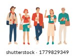 set of young men and women ...   Shutterstock .eps vector #1779829349