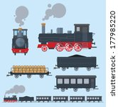 old train flat style. eps8. | Shutterstock .eps vector #177985220