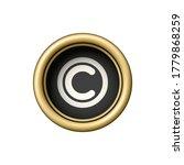Copyright Symbol On Vintage...