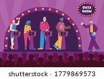 shooting a quiz tv show with... | Shutterstock .eps vector #1779869573