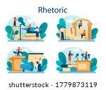 rhetoric or elocution school... | Shutterstock .eps vector #1779873119