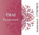 thai background of flower...   Shutterstock .eps vector #1779878870