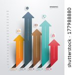 abstract 3d paper infographics | Shutterstock .eps vector #177988880