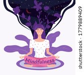 mindfullness yoga meditation... | Shutterstock .eps vector #1779889409