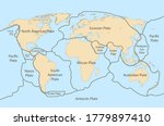 tectonic plate earth map.... | Shutterstock .eps vector #1779897410