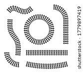 railway train track vector... | Shutterstock .eps vector #1779897419