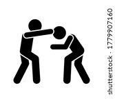 men kick head icon. simple...