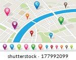 city map | Shutterstock .eps vector #177992099