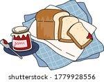 cartoon of whole wheat bread...   Shutterstock .eps vector #1779928556