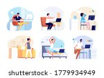office syndrome. stretching... | Shutterstock .eps vector #1779934949