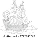 little boy with a cocked sailor ...   Shutterstock .eps vector #1779938249