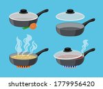 Cartoon Cooking Pans. Objects...