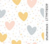 seamless pattern with hearts ...   Shutterstock .eps vector #1779978539