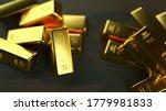 A Closeup Shot Of Gold Bullion...