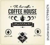 vintage  coffee house labels... | Shutterstock .eps vector #177998474