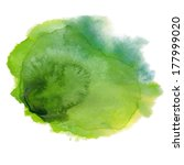 Green Watercolor Spot. Vector...