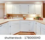 bright kitchen with white... | Shutterstock . vector #178000040