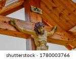 Jesus Christ On Wooden Crucifix