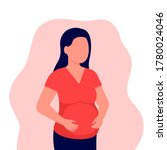 abstract pregnant young girl.... | Shutterstock .eps vector #1780024046