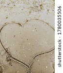 Heart Drawn In The Sand. Love....
