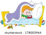 little boy playing with a toy... | Shutterstock .eps vector #178003964