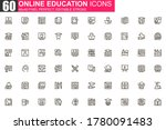 online education thin line icon ...