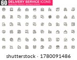 delivery service thin line icon ...
