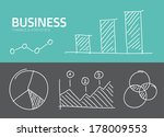 handdrawn vector business... | Shutterstock .eps vector #178009553