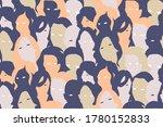 women crowd seamless pattern....   Shutterstock .eps vector #1780152833