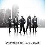 business people on city | Shutterstock .eps vector #17801536