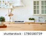 kitchen wooden table top and... | Shutterstock . vector #1780180739